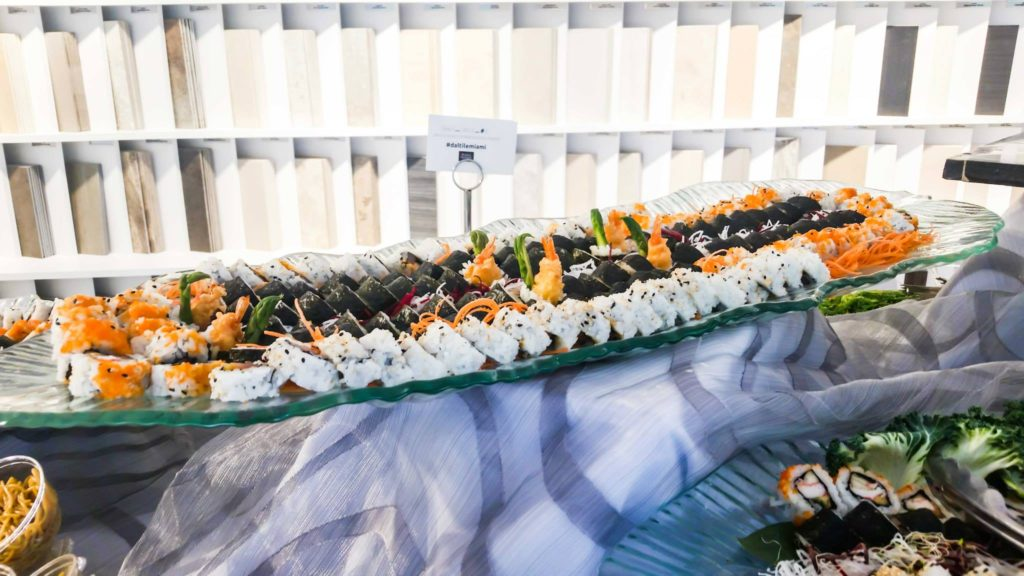 Assorted sushi miami catering