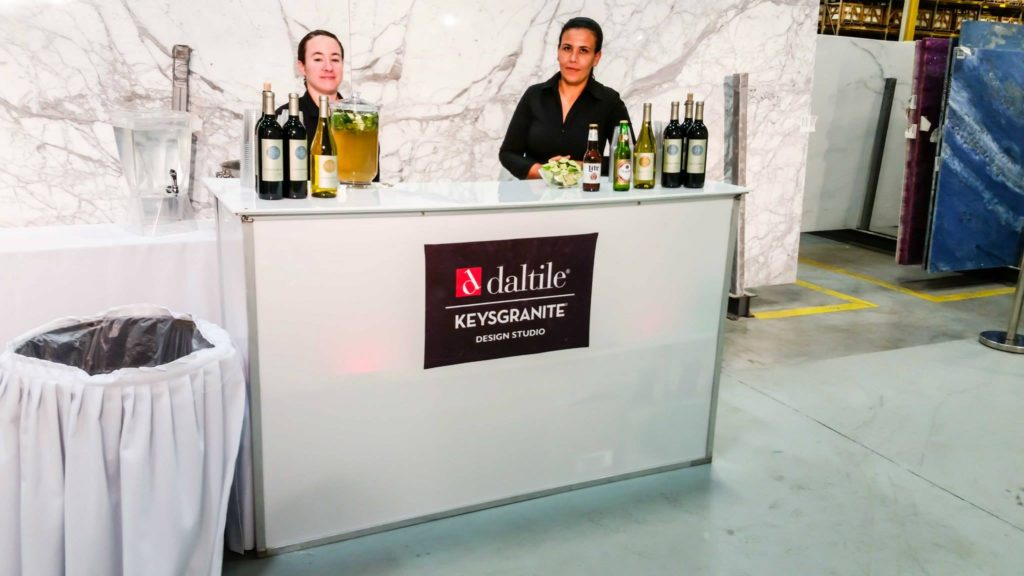 acrylic bar miami catering